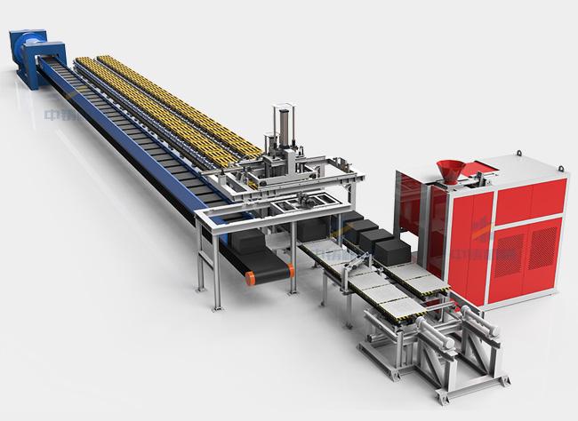全自动水平分型造型机生产线